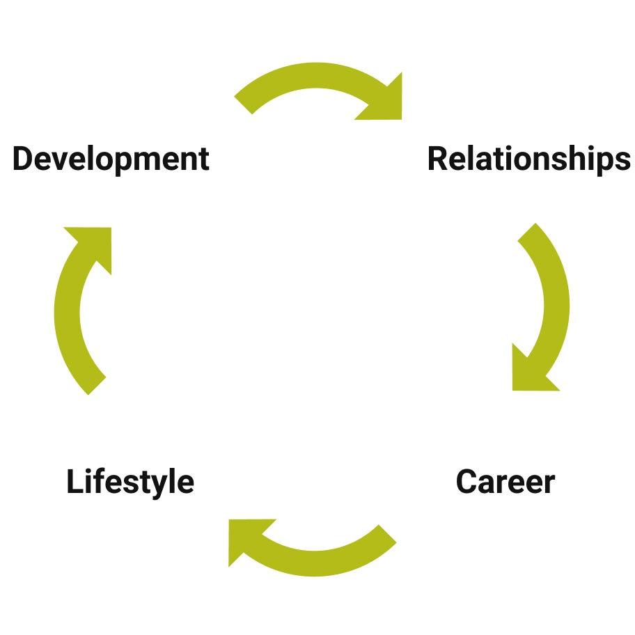 Career transition flowchart